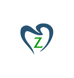 Healthy dental care letter z vector