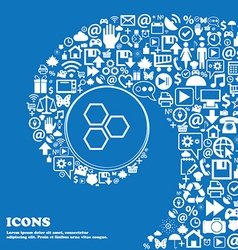 Honeycomb icon sign Nice set of beautiful icons vector image vector image