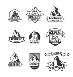Iceberg logo set vector image