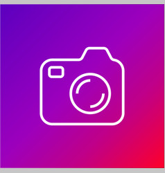 Icon of photocamera simple camera icon on vector