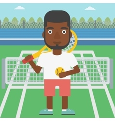 Male tennis player vector image vector image