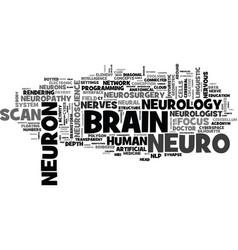 Neuro word cloud concept vector