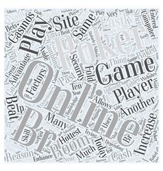 Online poker games word cloud concept vector