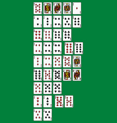 rankinng hands of poker vector image