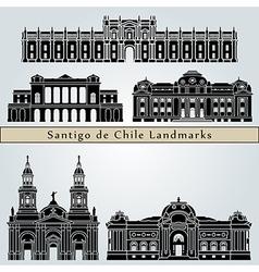 Santiago de Chile landmarks and monuments vector image vector image