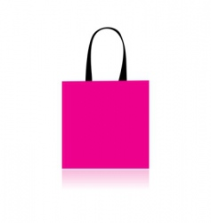 shopping bag design vector image vector image
