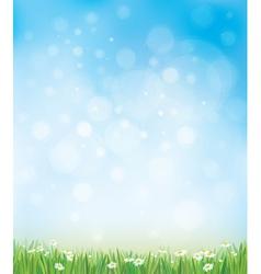 Sky grass background vector