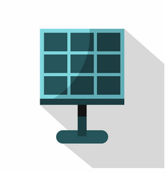Solar battery icon flat style vector