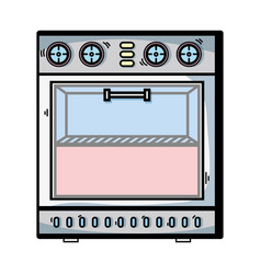 Technology oven electric kitchen utensil vector