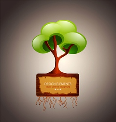 tree with space for text design element vector image vector image