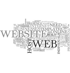 What do i need to know to have a website online vector