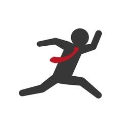 Pictogram and suitcase icon businessman design vector