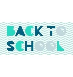Back to school concept vector