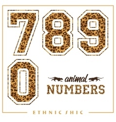 Animal numbers for t-shirts posters card vector