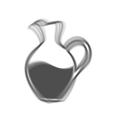 Amphora sign  gray icon shaked at white vector