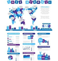 Infographic demographics toy purple vector
