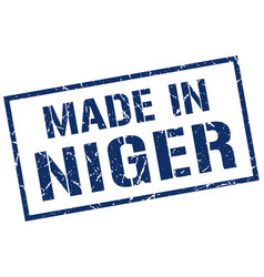 Made in niger stamp vector