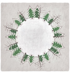 Christmas background with snow-covered trees vector image
