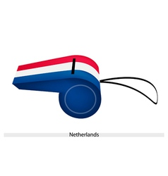 A red white and blue whistle of netherlands vector