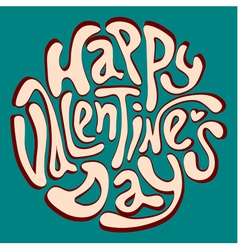 Happy valentines day inscription vector