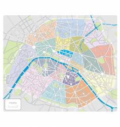 Map of paris france vector