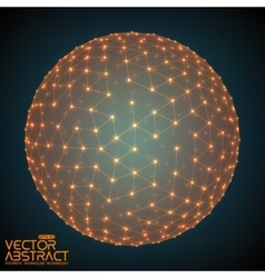 Abstract sphere with glowing points vector