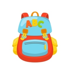 Children school bag vector