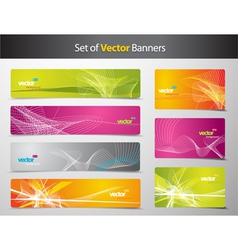 Set of abstract colorful web headers and gift card vector