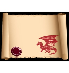 Old scroll with symbol 2012 year of dragon eps10 vector