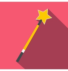Gold magic wand flat vector