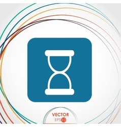 Hourglass icon design vector