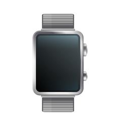 Blanc display smart watch icon vector