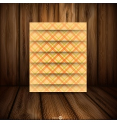 Abstract Square On Beige Background vector image