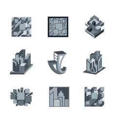 Building Logo Templates vector image