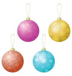 Christmas decoration set balls vector image vector image