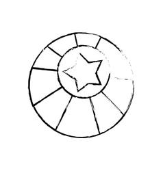 circus ball star vector image vector image