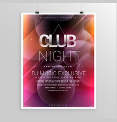 Club night party flyer template with date and vector