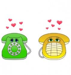 Desktop phone vector