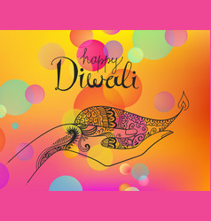 Diwali hand drawn line art vector