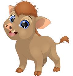 funny little hog vector image vector image