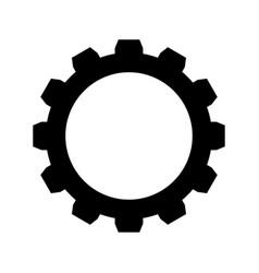 gear the black color icon vector image vector image