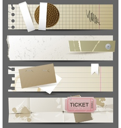 horizontal paper banners vector image