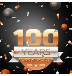 Hundred years anniversary celebration background vector image