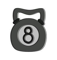 Kettlebell fitness weight vector