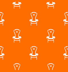 king throne chair pattern seamless vector image vector image