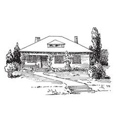 Modern bungalow vintage vector