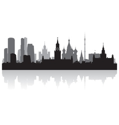 Moscow city skyline silhouette vector image