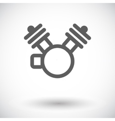 Motorcycle engine icon vector