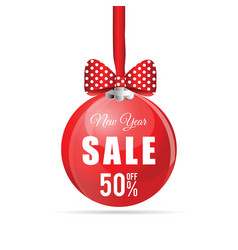 new year sale ball vector image vector image