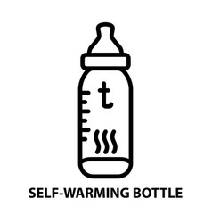 self warming bottle vector image vector image